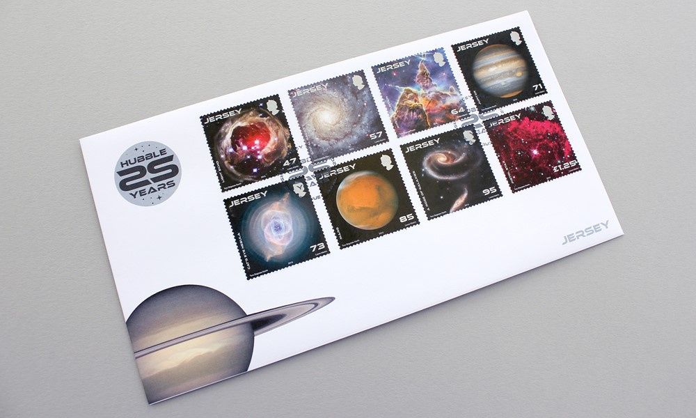 Jersey Post Hubble 25 Years Stamps