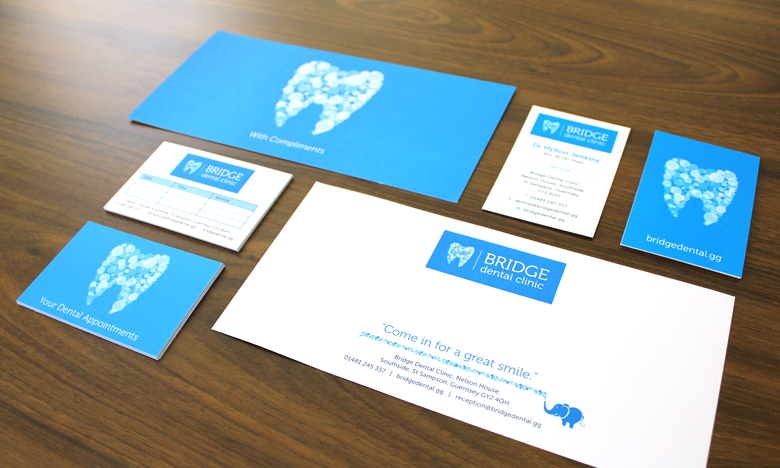 bridge dental branding two degrees north design advertising